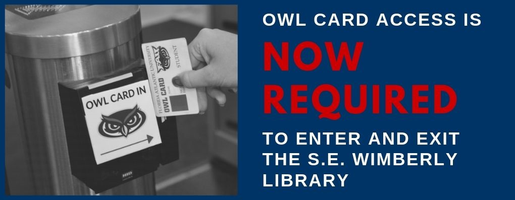 Owl Card swip into the library