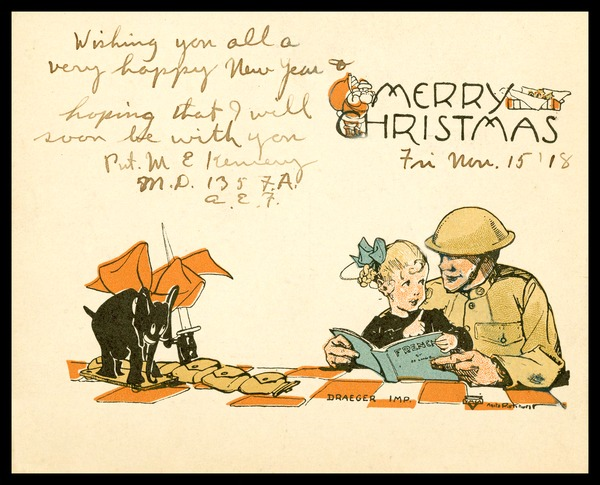 One of the images from the Marvin E. Kemery Digital Collection: Letters Home from a World War 1 Soldier.