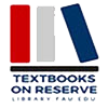 FAU Libraries Textbook Reserve Program