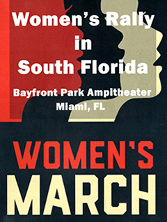 Digital scan of a Women's March South Florida poster