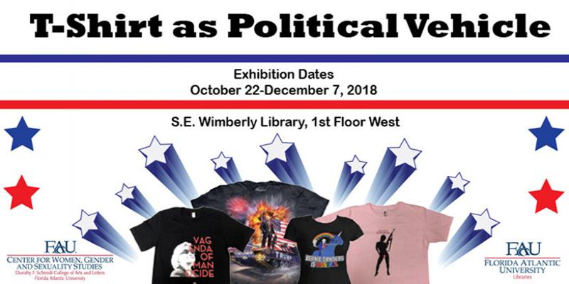 Graphic image advertising the dates of the exhibition. Dates are October 22 to December 7, 2018 on the 1st floor of the Library